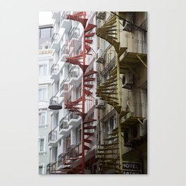 Staircases in Istanbul Canvas Print