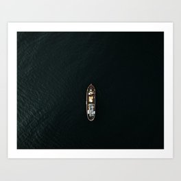 Iceland Ship from Above - Ocean Photography Art Print