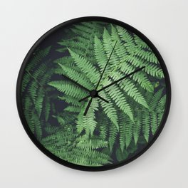 Fern Bush Nature Photography | Botanical | Plants Wall Clock