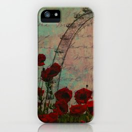 Poppies and Pink Skies iPhone Case