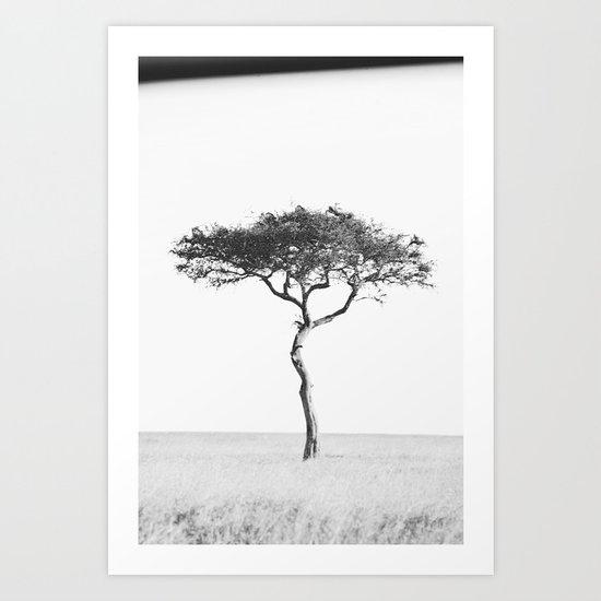 black&white::kenya Art Print