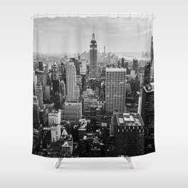 Black & White NYC Skyline Shower Curtain