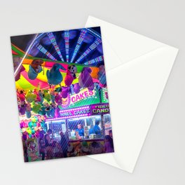 Fun Fun and Funnel Cakes at the carnival Stationery Cards