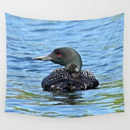 Sleepy time baby loon Wall Tapestry