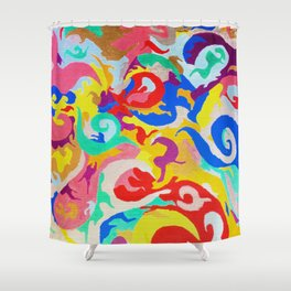 Filtered Swirl 1 Shower Curtain