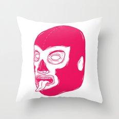 Pink Luchador Throw Pillow