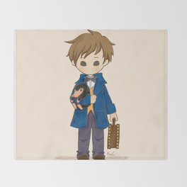 Newt Scamander & Niffler. Throw Blanket