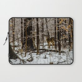 Deer in the Glistening Forest by Teresa Thompson Laptop Sleeve