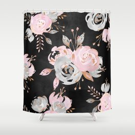 Night Roses 2 Shower Curtain