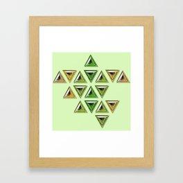 Earth Tones Gradient Trillion Gemstones Framed Art Print