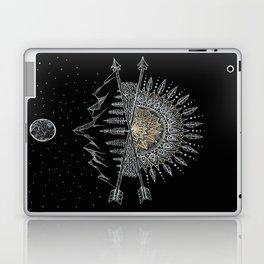 Moon and Stars Night Sky Mountain Range Arrow Mandala Laptop & iPad Skin