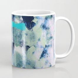 014: a bright contemporary abstract design in greens and lavender by Alyssa Hamilton Art  Coffee Mug