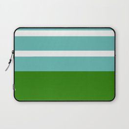 Summer Delight, teal, white and green Laptop Sleeve