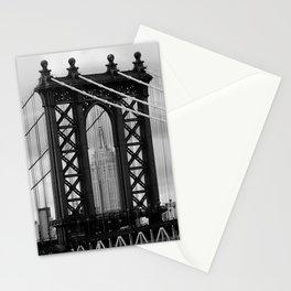 new york city ... manhattan bridge trilogy II Stationery Cards