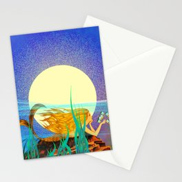 Mermaid with Fish Stationery Cards