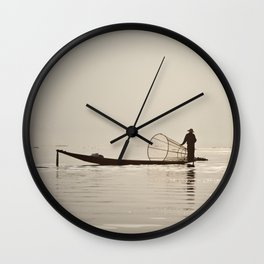 Inle Lake Myanmar Wall Clock