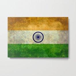 Flag of India - Grungy Vintage Metal Print