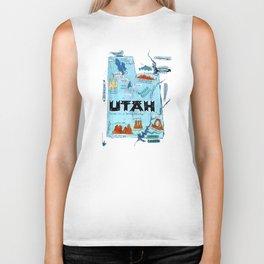 UTAH map Biker Tank
