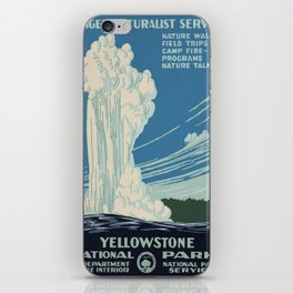 Vintage poster - Yellowstone iPhone Skin