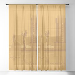 I Love Wichita Sheer Curtain