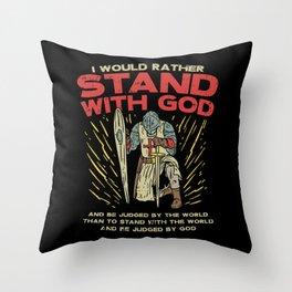Bible Verse T Shirts God Jesus Knight Gift Throw Pillow
