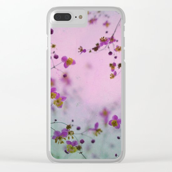 Vintage Little Flowers Clear iPhone Case
