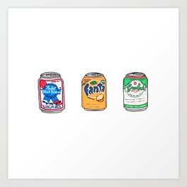 Tsites cannes - Little cans Art Print