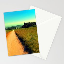 Hiking on a hot afternoon Stationery Cards