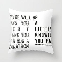 Run a Marathon Throw Pillow