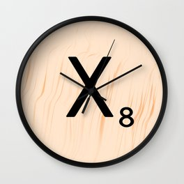 Scrabble Letter X - Scrabble Art and Apparel Wall Clock