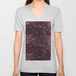 Deep rose violet velvet Unisex V-Neck