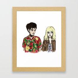 James & Alyssa Framed Art Print
