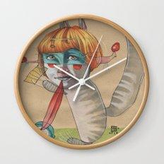 CAT CLOWN Wall Clock