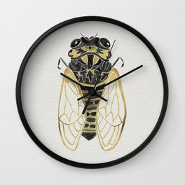 Cicada – Black & Gold Wall Clock