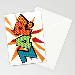 Comic Book Pop Art Sans ZAP! Stationery Cards