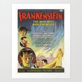 Vintage poster - Frankenstein Art Print