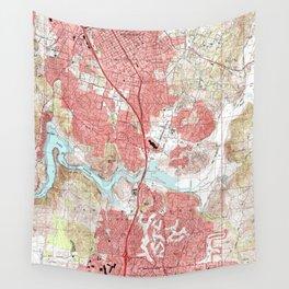 Escondido California Map (1996) Wall Tapestry