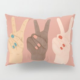Peace Hands Pillow Sham