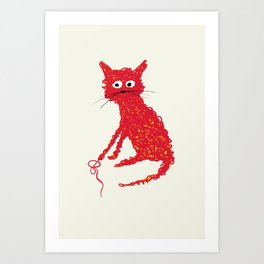 Alfred cat Art Print