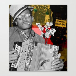 the new negro has no fear Canvas Print