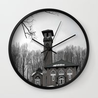 poland Wall Clocks featuring Poland Springs Museum by Catherine1970