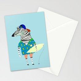 surfer zebra Stationery Cards