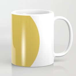Perfection. Mustard Yellow Sun Dot on White Coffee Mug