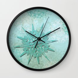 diamond dust Wall Clock