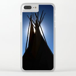 Midnight Lodge Clear iPhone Case