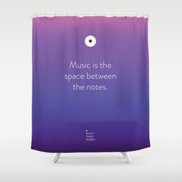 Acorn Music Studios Tote Shower Curtain