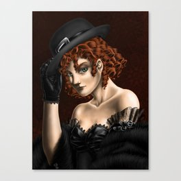 Mysterious Redhead Canvas Print
