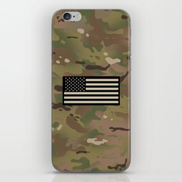 U.S. Flag: Woodland Camouflage iPhone Skin