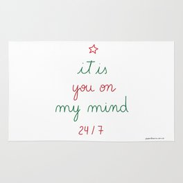 You on My Mind 24/7 Rug