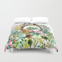 new year Duvet Covers featuring NEW YEAR by Burcu Korkmazyurek